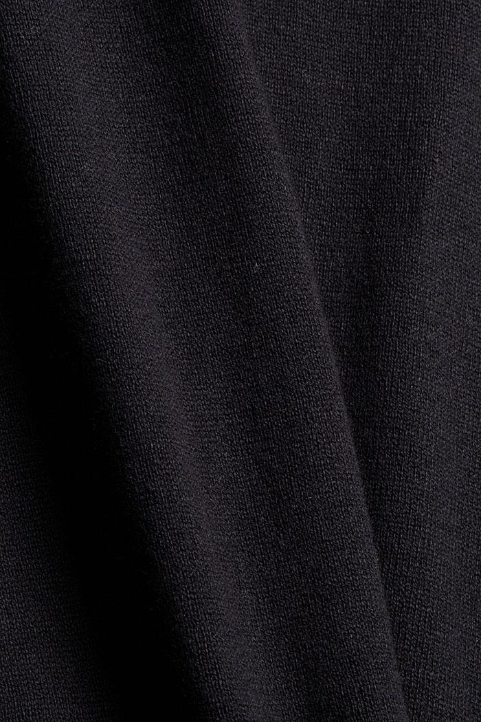 Met kasjmier: coltrui, biologisch katoen, BLACK, detail image number 4