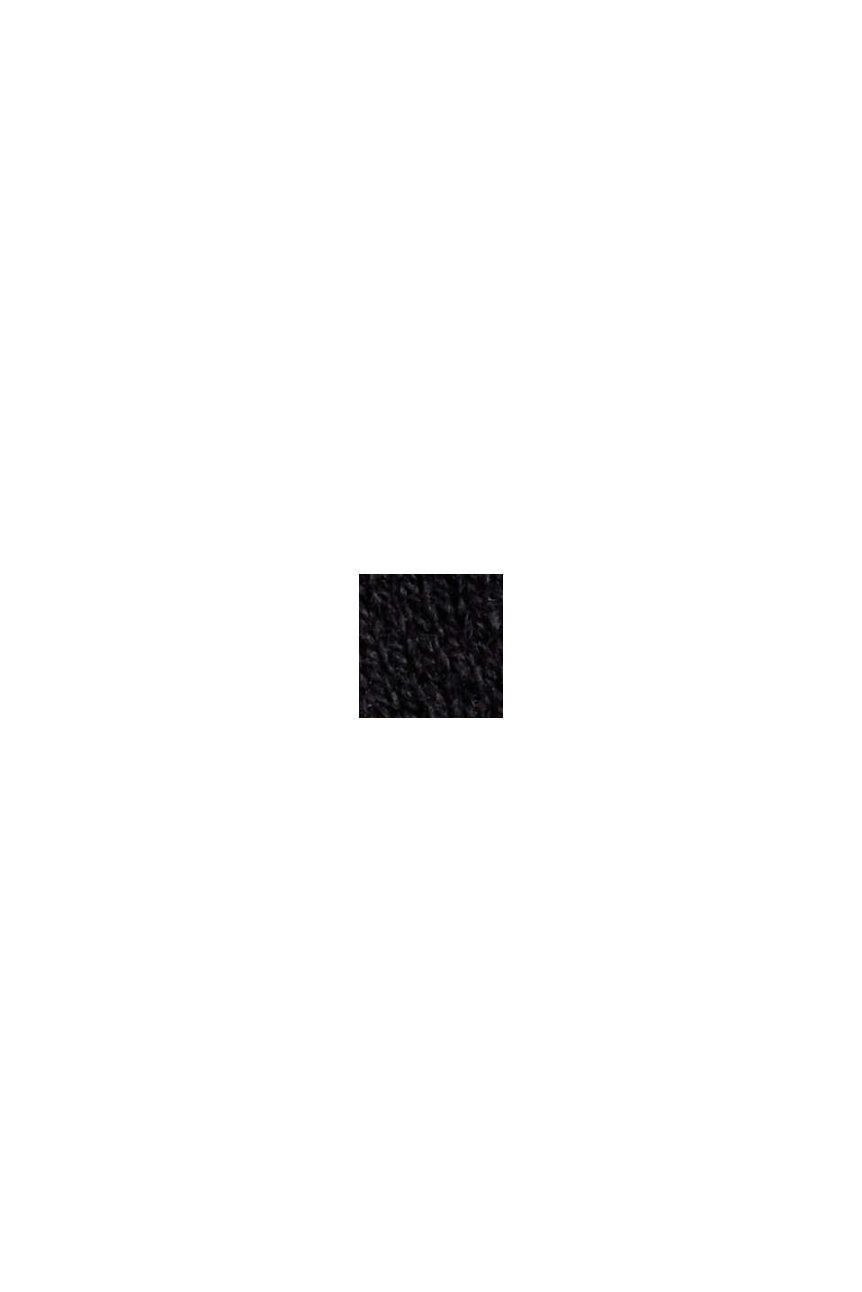 Med kaschmir: Polotröja, ekobomull, BLACK, swatch
