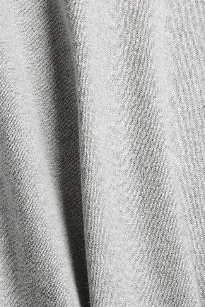 Mit Kaschmir: Rollkragenpullover, Bio-Baumwolle, LIGHT GREY, detail image number 4
