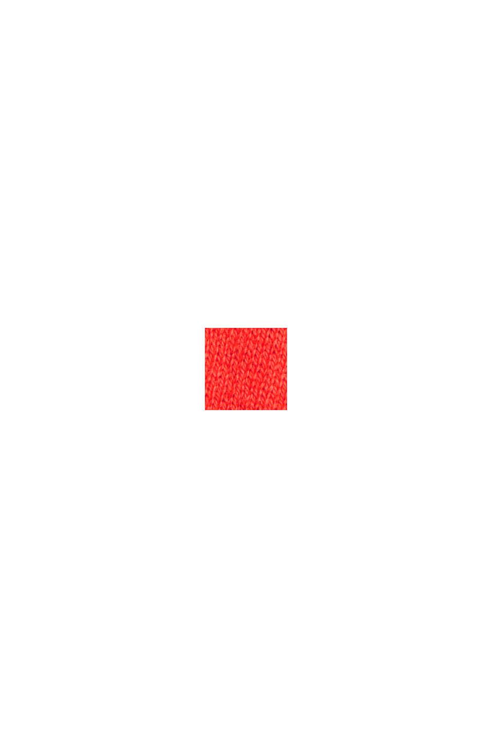 Med kaschmir: Polotröja, ekobomull, ORANGE RED, swatch