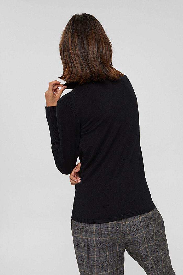 Basic Rollkragen-Pullover, LENZING™ ECOVERO™, BLACK, detail image number 3