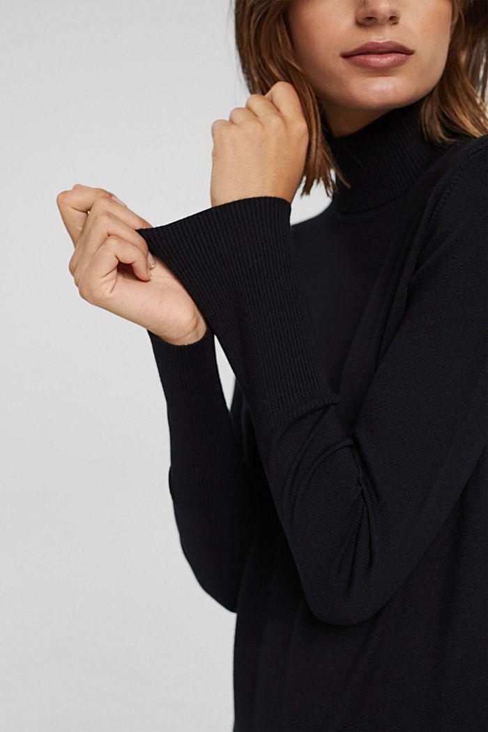 Basic Rollkragen-Pullover, LENZING™ ECOVERO™, BLACK, detail image number 2