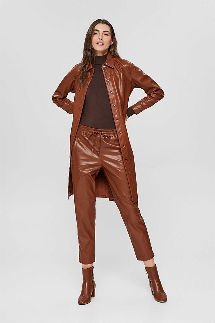 Basic Rollkragen-Pullover, LENZING™ ECOVERO™, DARK BROWN, detail image number 1