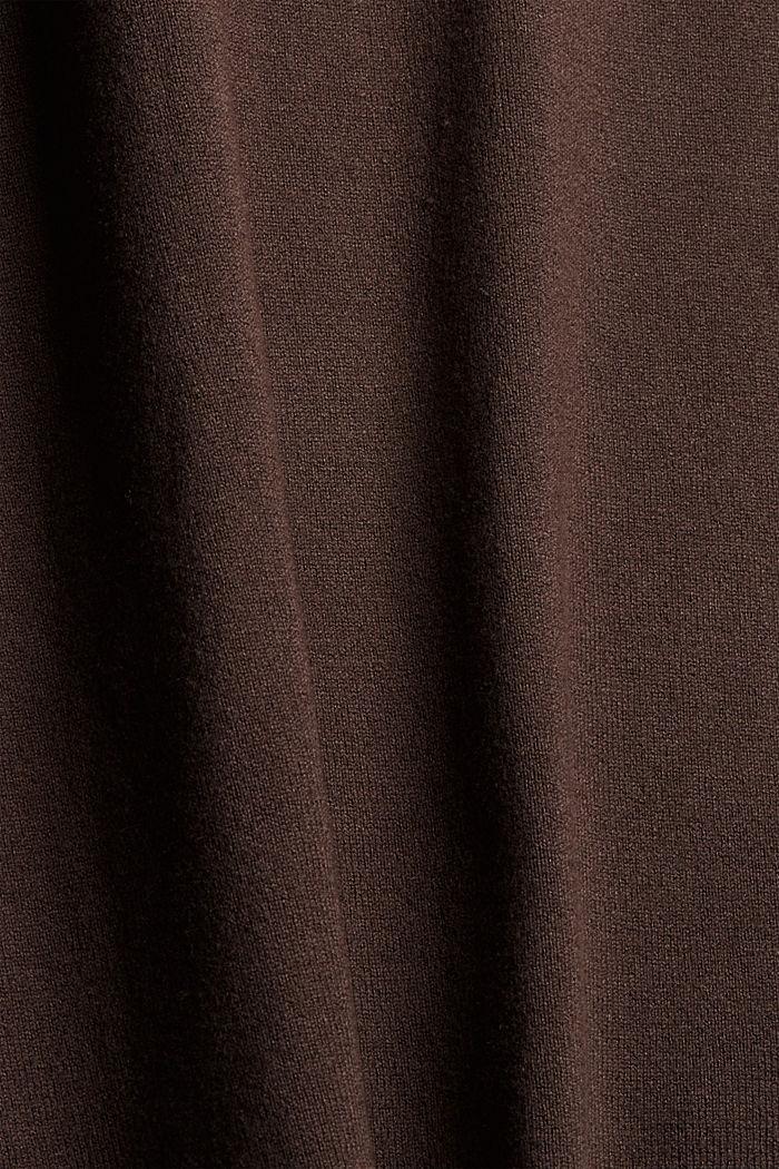 Basic Rollkragen-Pullover, LENZING™ ECOVERO™, DARK BROWN, detail image number 4