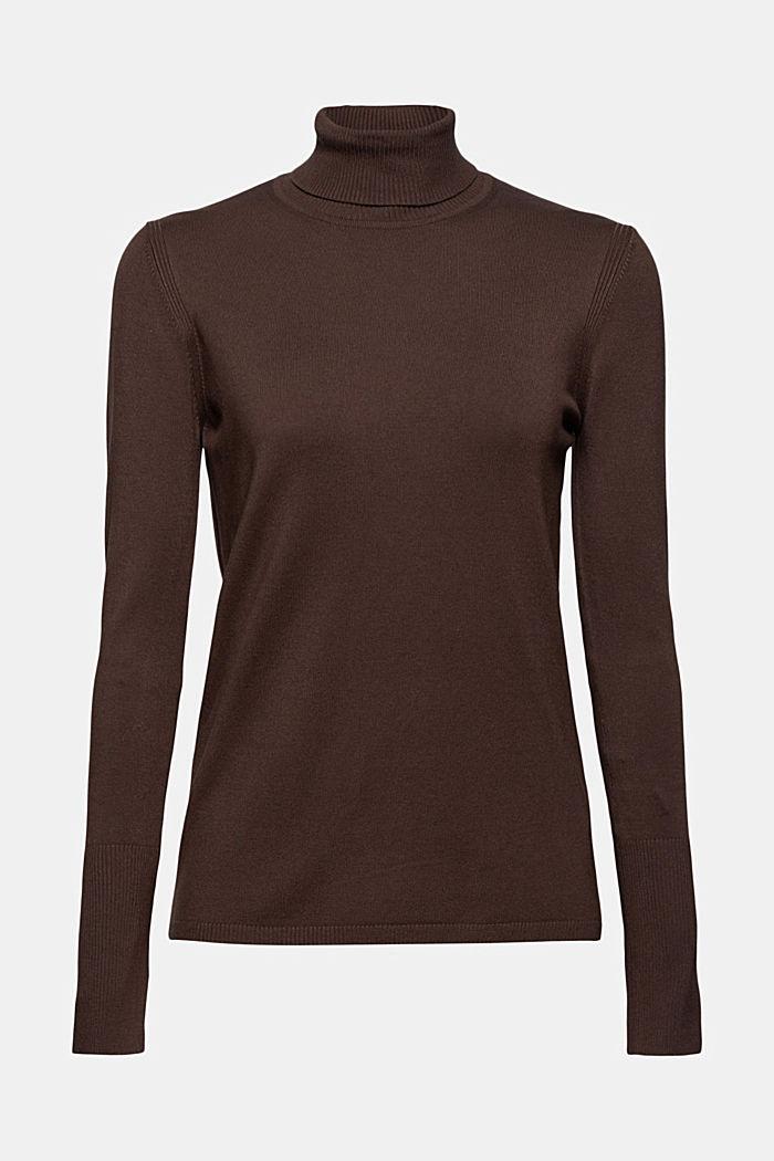 Basic Rollkragen-Pullover, LENZING™ ECOVERO™, DARK BROWN, detail image number 7