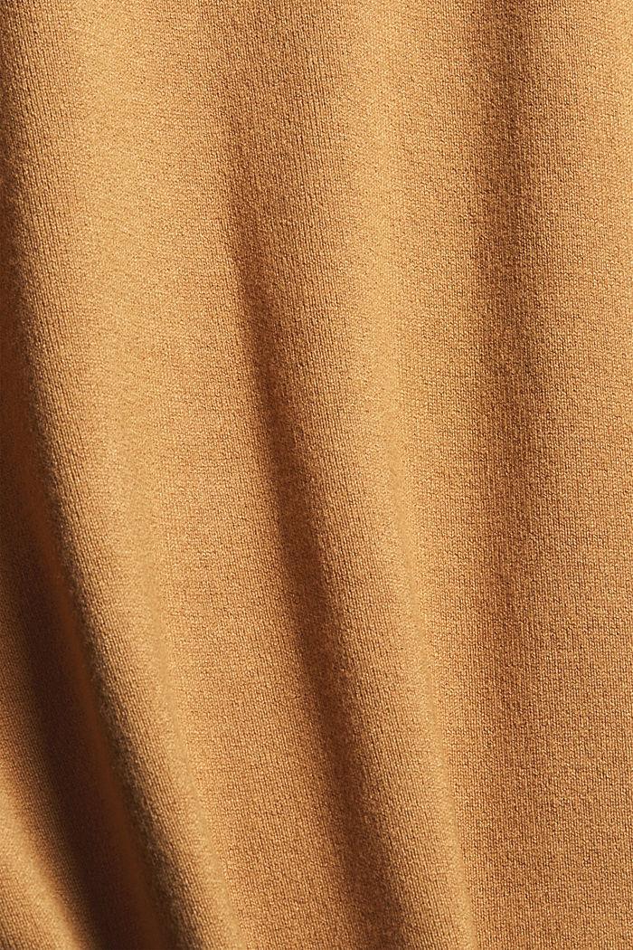 Basic coltrui, LENZING™ ECOVERO™, CARAMEL, detail image number 4