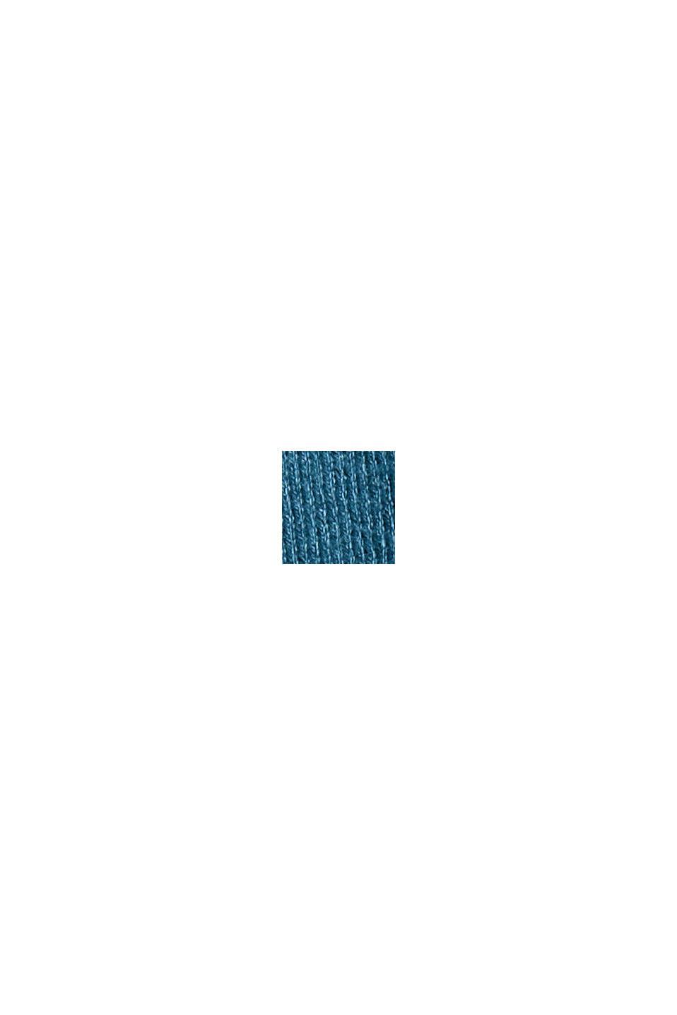 Basis-rullekravepullover, LENZING™ ECOVERO™, PETROL BLUE, swatch