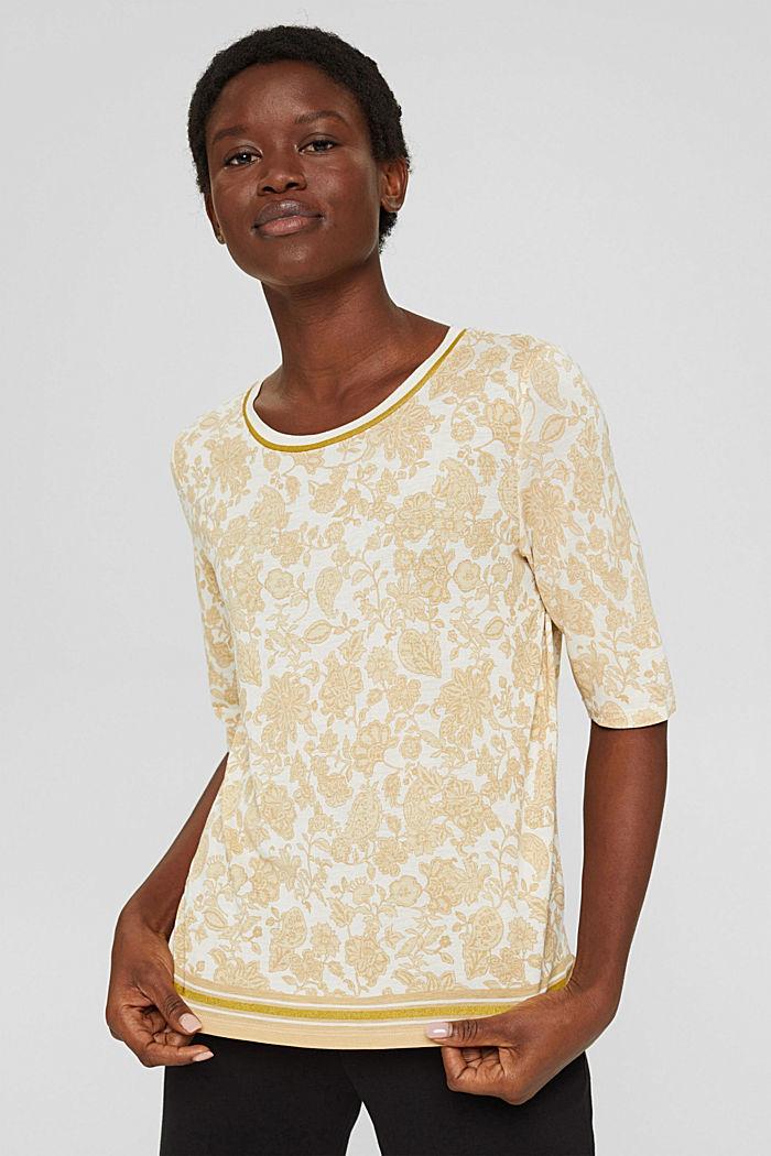 T-shirt à imprimé à fleurs, LENZING™ ECOVERO™, ICE, detail image number 0