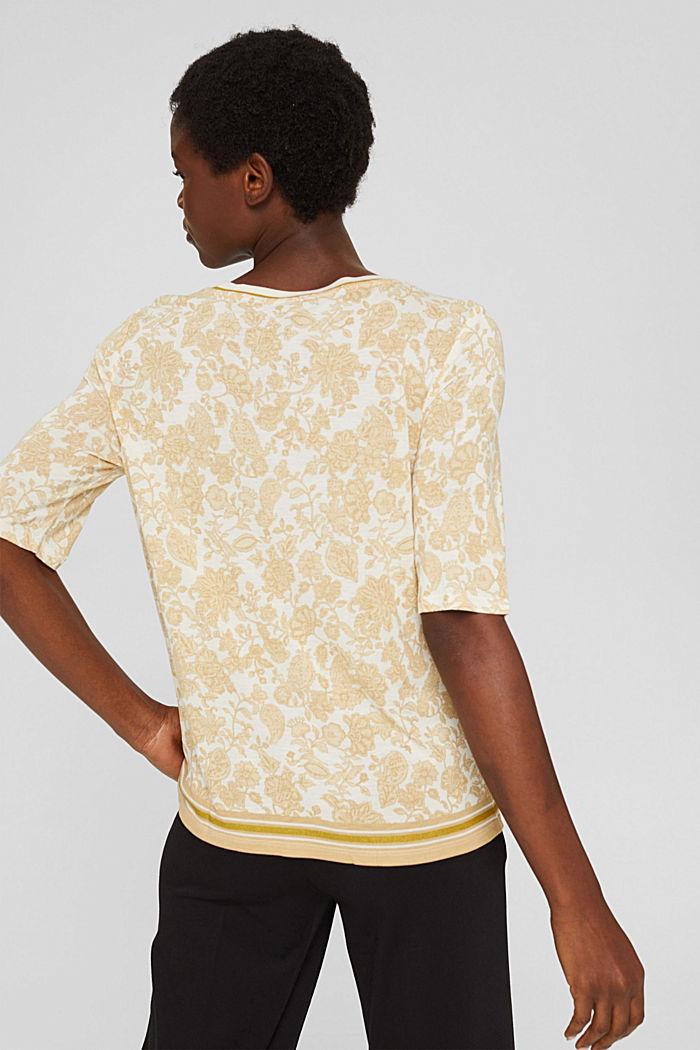 T-shirt à imprimé à fleurs, LENZING™ ECOVERO™, ICE, detail image number 3