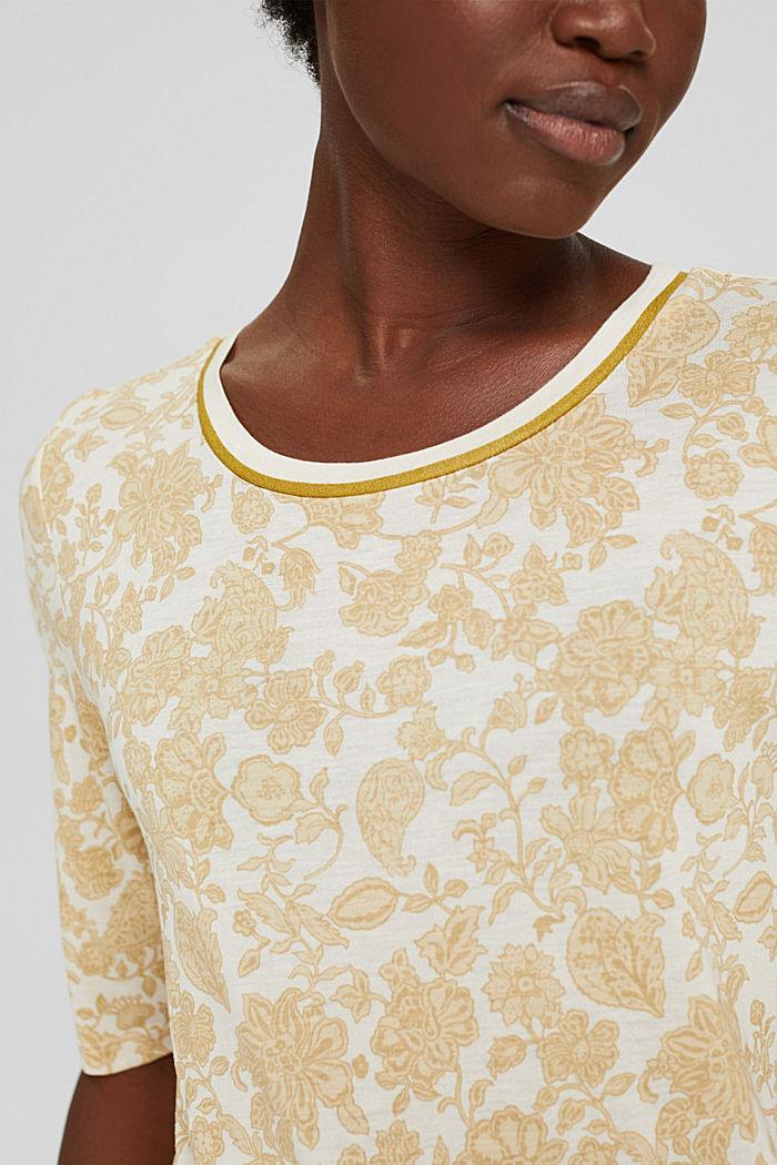 T-shirt à imprimé à fleurs, LENZING™ ECOVERO™, ICE, detail image number 2