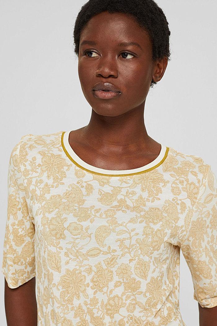 T-shirt à imprimé à fleurs, LENZING™ ECOVERO™, ICE, detail image number 5