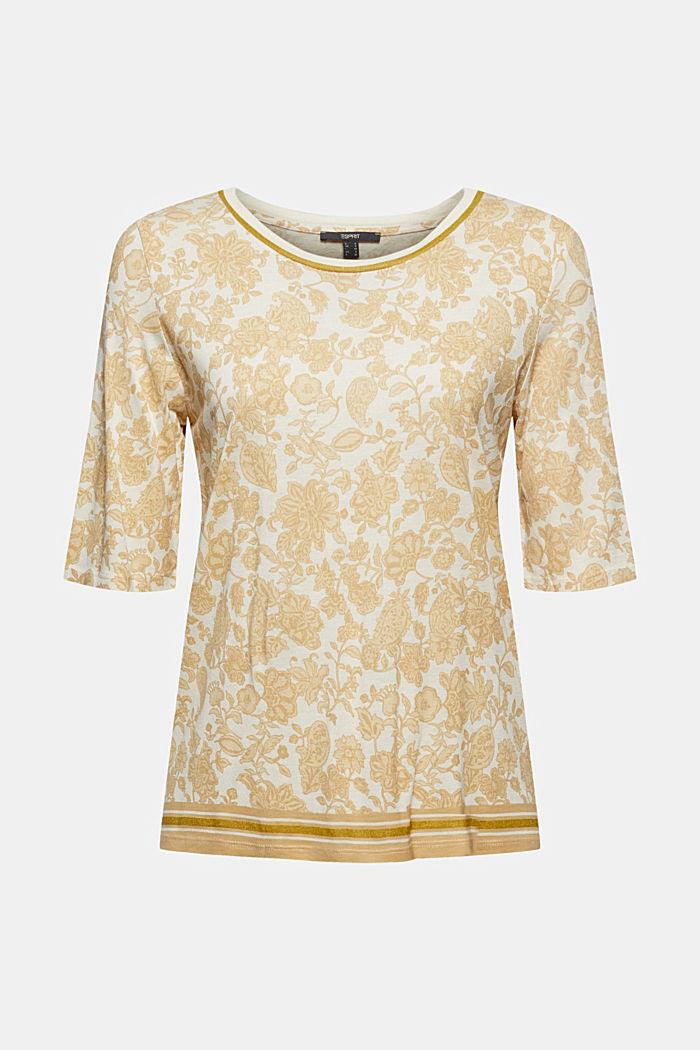 T-shirt à imprimé à fleurs, LENZING™ ECOVERO™, ICE, detail image number 6