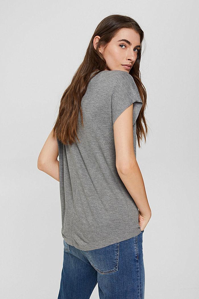 T-Shirt mit Glanz-Print, LENZING™ ECOVERO™, GUNMETAL, detail image number 3