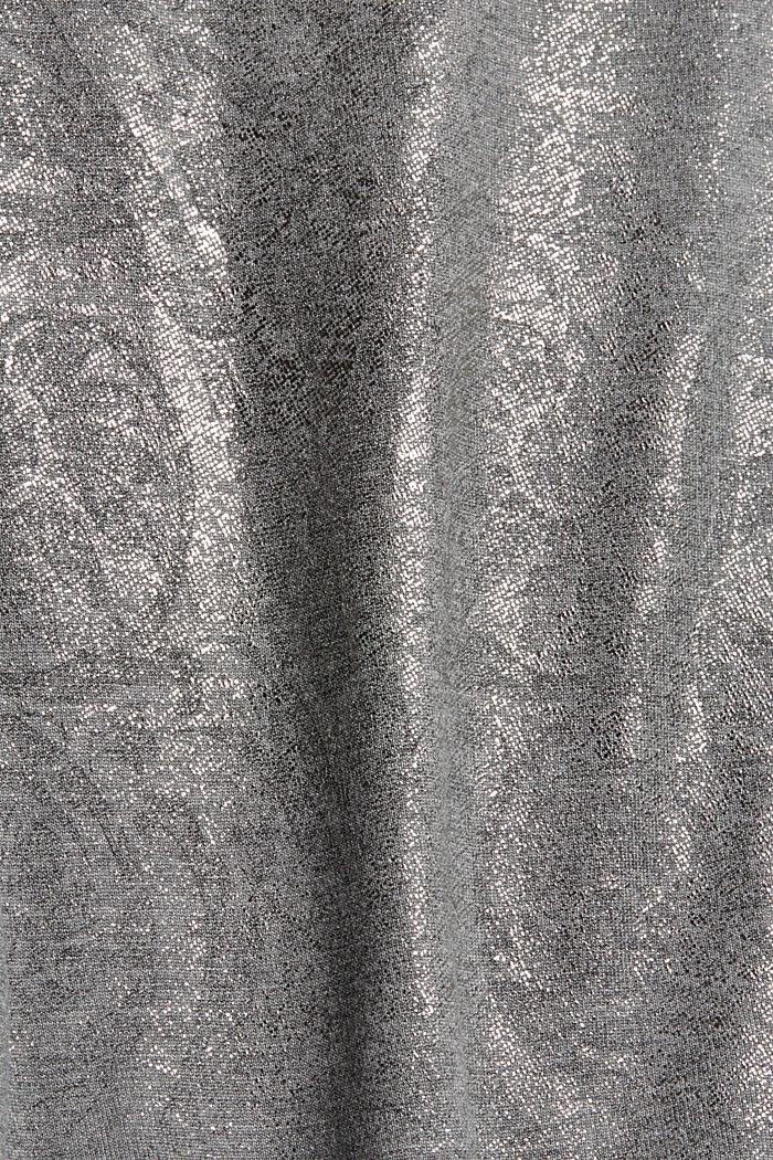 T-Shirt mit Glanz-Print, LENZING™ ECOVERO™, GUNMETAL, detail image number 4