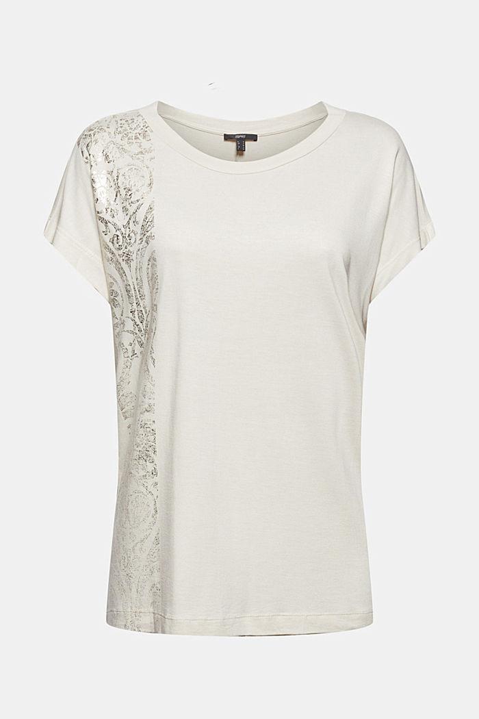 T-Shirt mit Glanz-Print, LENZING™ ECOVERO™