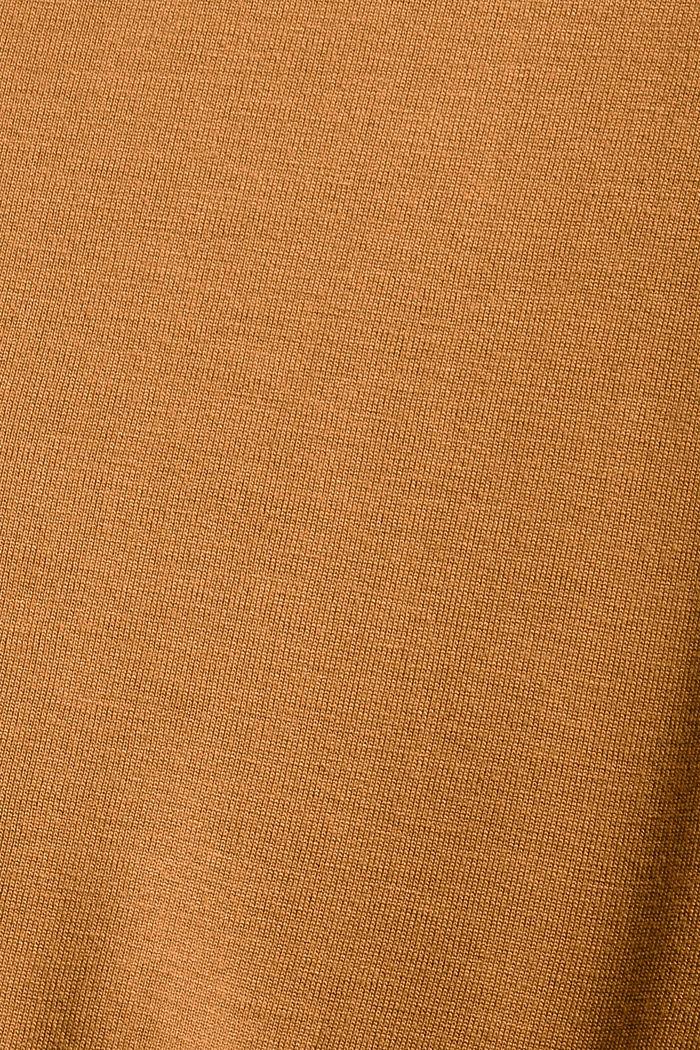 T-Shirt mit Glanz-Print, LENZING™ ECOVERO™, CARAMEL, detail image number 4