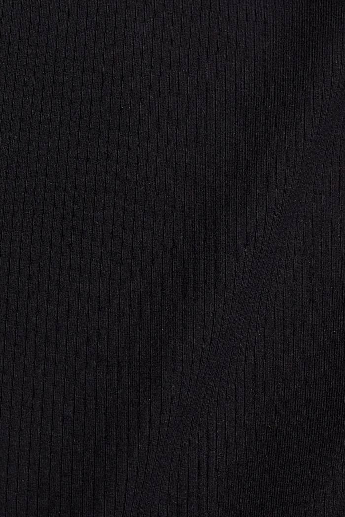 Aus Lyocell (TENCEL™). Stehkragen-Longsleeve, BLACK, detail image number 4