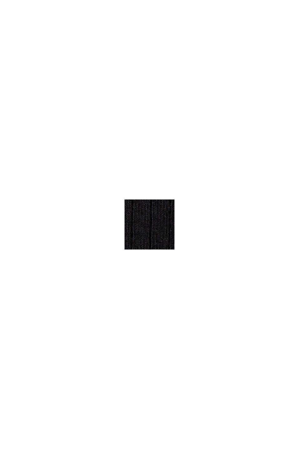 I lyocell (TENCEL™). långärmad topp med ståkrage, BLACK, swatch