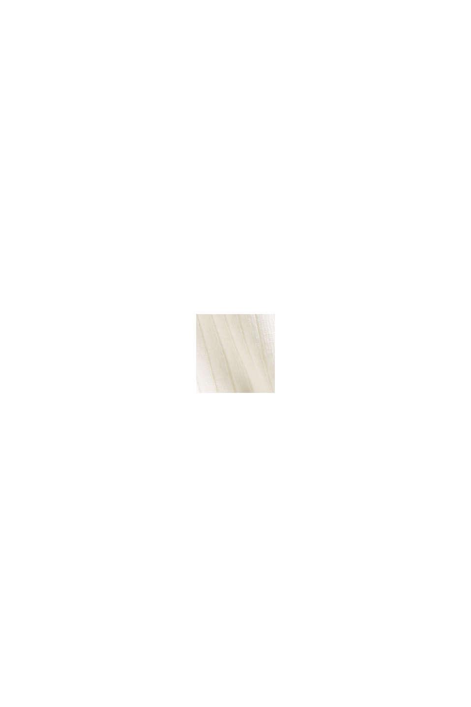 I lyocell (TENCEL™). långärmad topp med ståkrage, OFF WHITE, swatch