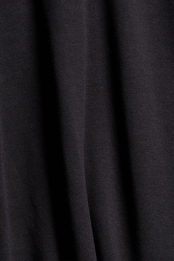 Longsleeve aus TENCEL™ x REFIBRA™, BLACK, detail image number 4