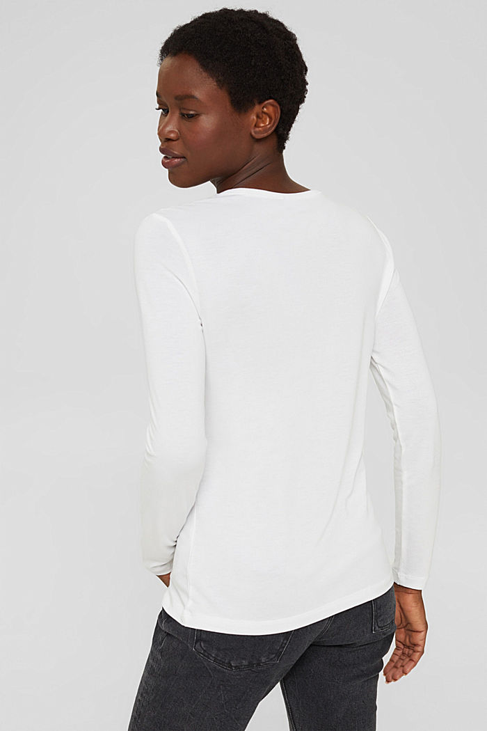 T-shirt à manches longues en TENCEL™ x REFIBRA™, WHITE, detail image number 3