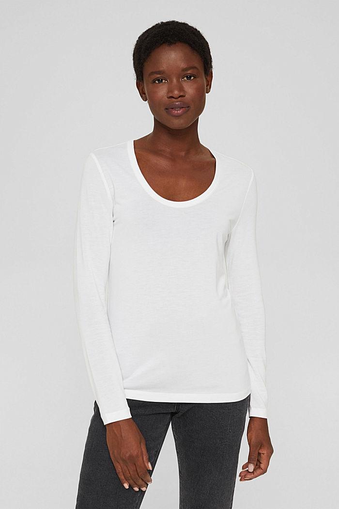 T-shirt à manches longues en TENCEL™ x REFIBRA™, WHITE, detail image number 5