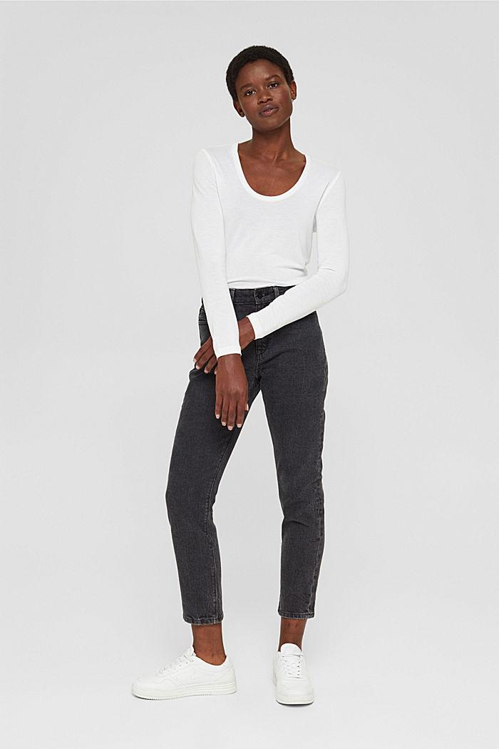 T-shirt à manches longues en TENCEL™ x REFIBRA™, WHITE, detail image number 6