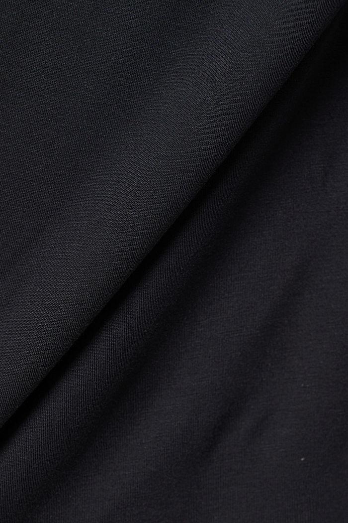 Aus TENCEL™/Stretch: Rollkragen-Longlseeve, BLACK, detail image number 4