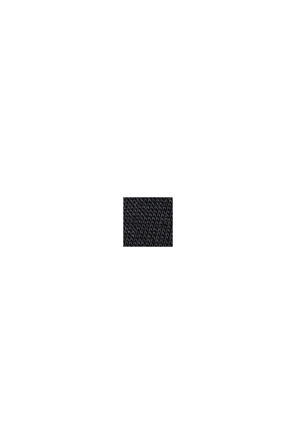 I TENCEL™/ stretch: Polotröja med lång ärm, BLACK, swatch