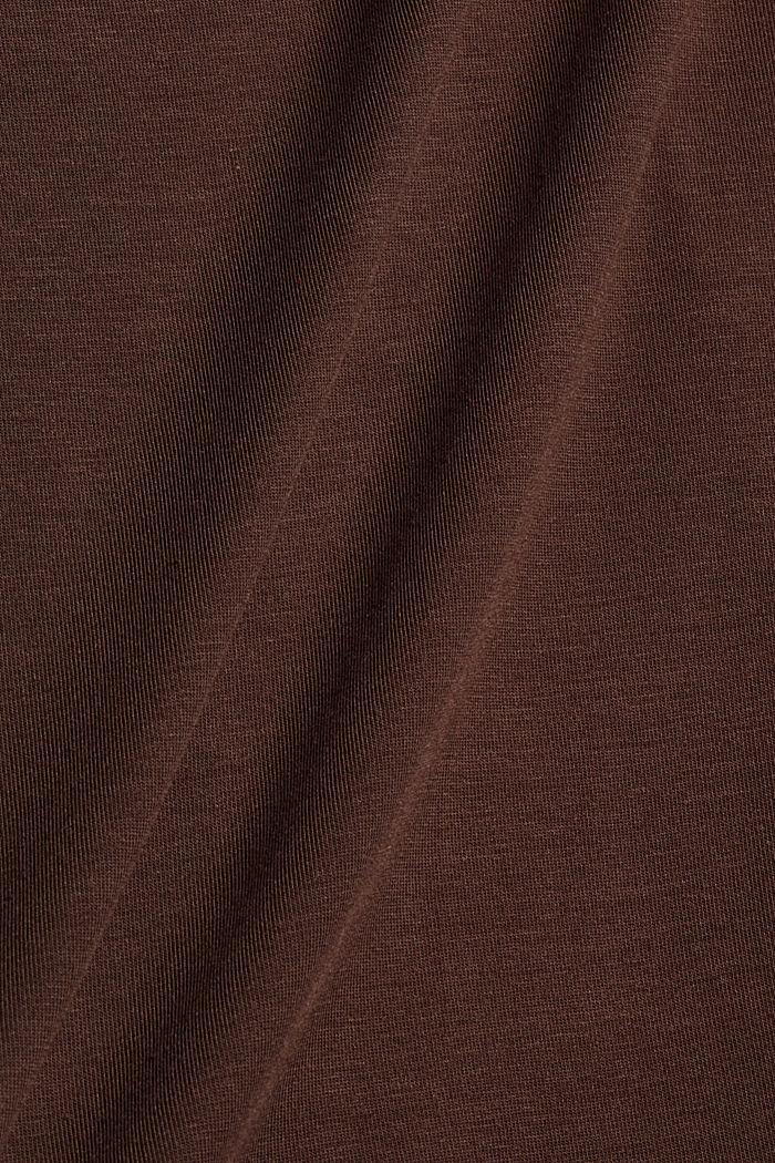 Aus TENCEL™/Stretch: Rollkragen-Longlseeve, DARK BROWN, detail image number 4