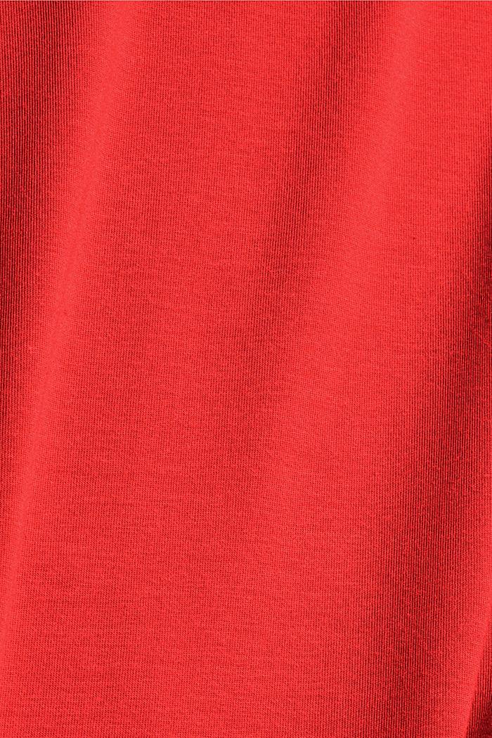 Aus TENCEL™/Stretch: Rollkragen-Longlseeve, ORANGE RED, detail image number 4