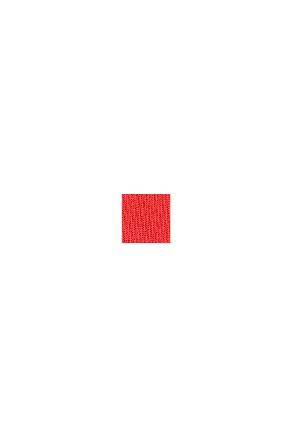 I TENCEL™/ stretch: Polotröja med lång ärm, ORANGE RED, swatch