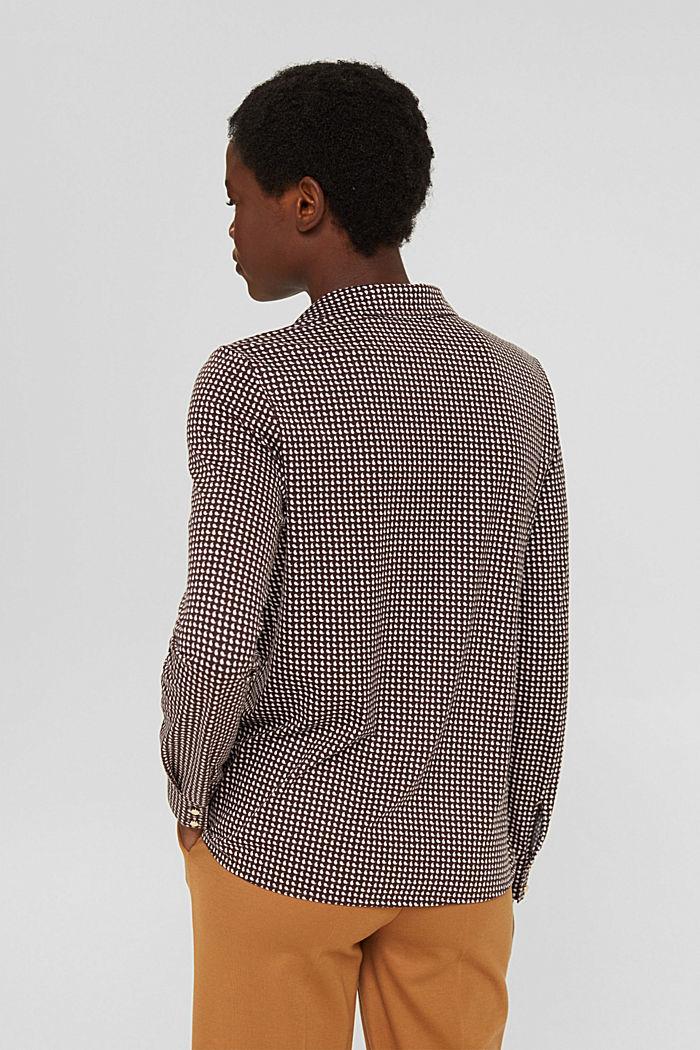 Mit TENCEL™: Shirt im Hemdblusenstil, BROWN, detail image number 3