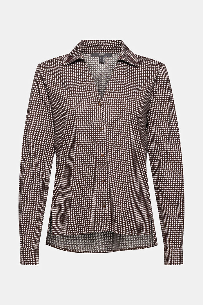 Mit TENCEL™: Shirt im Hemdblusenstil