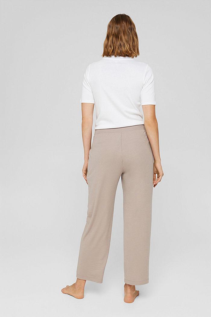 TENCEL™-Mix: cropped Pyjama-Hose, LIGHT TAUPE, detail image number 3