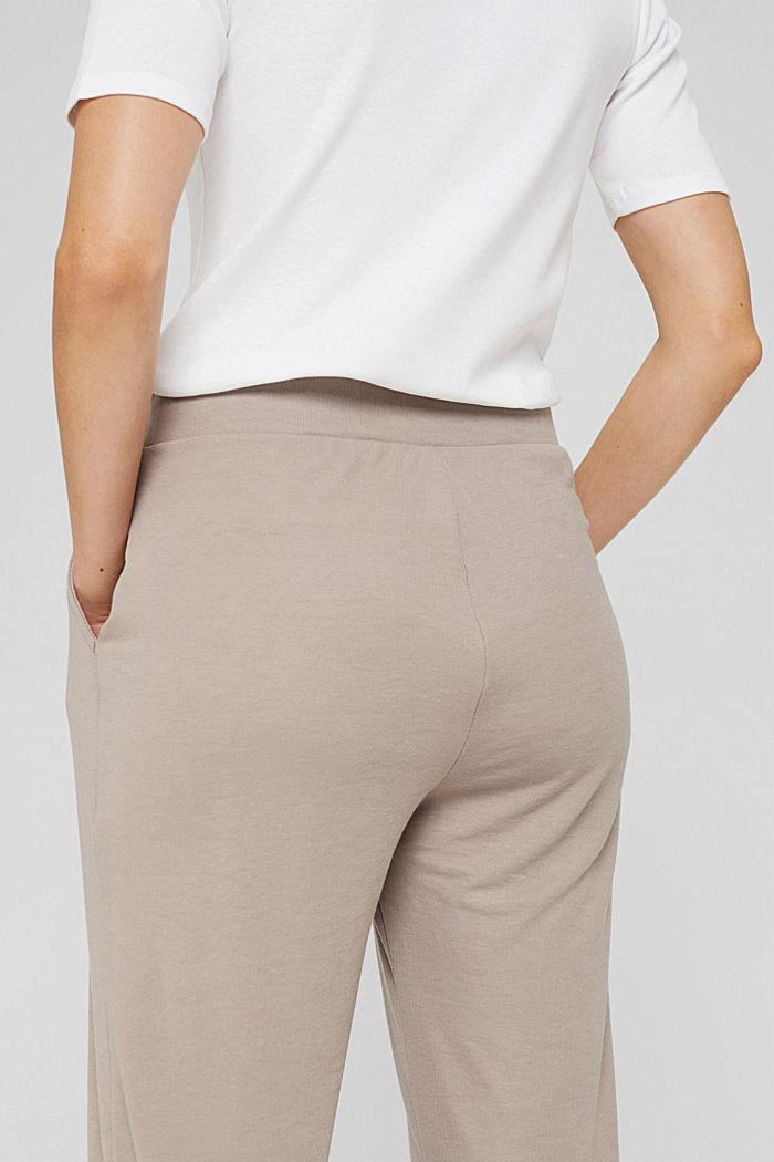 TENCEL™-Mix: cropped Pyjama-Hose, LIGHT TAUPE, detail image number 2