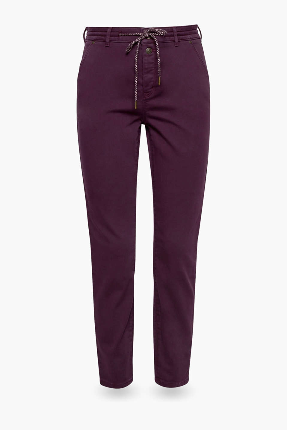 Super cool, super soft and super comfortable: trousers in a trendy tracksuit bottom style