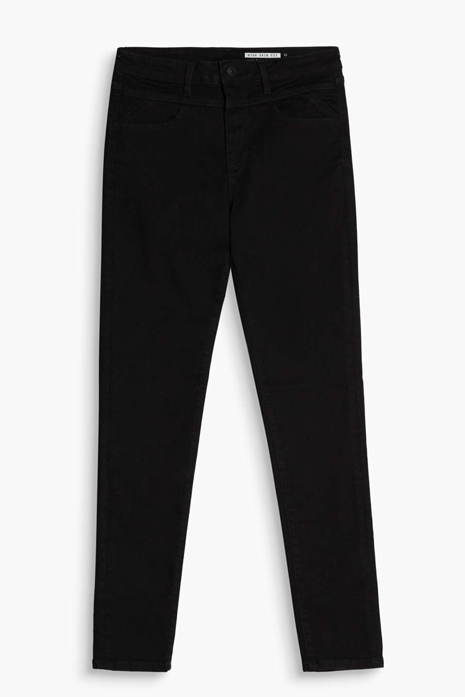 They create a sensational silhouette: High-waisted jeans made of lifting stretch denim with a cool garment wash