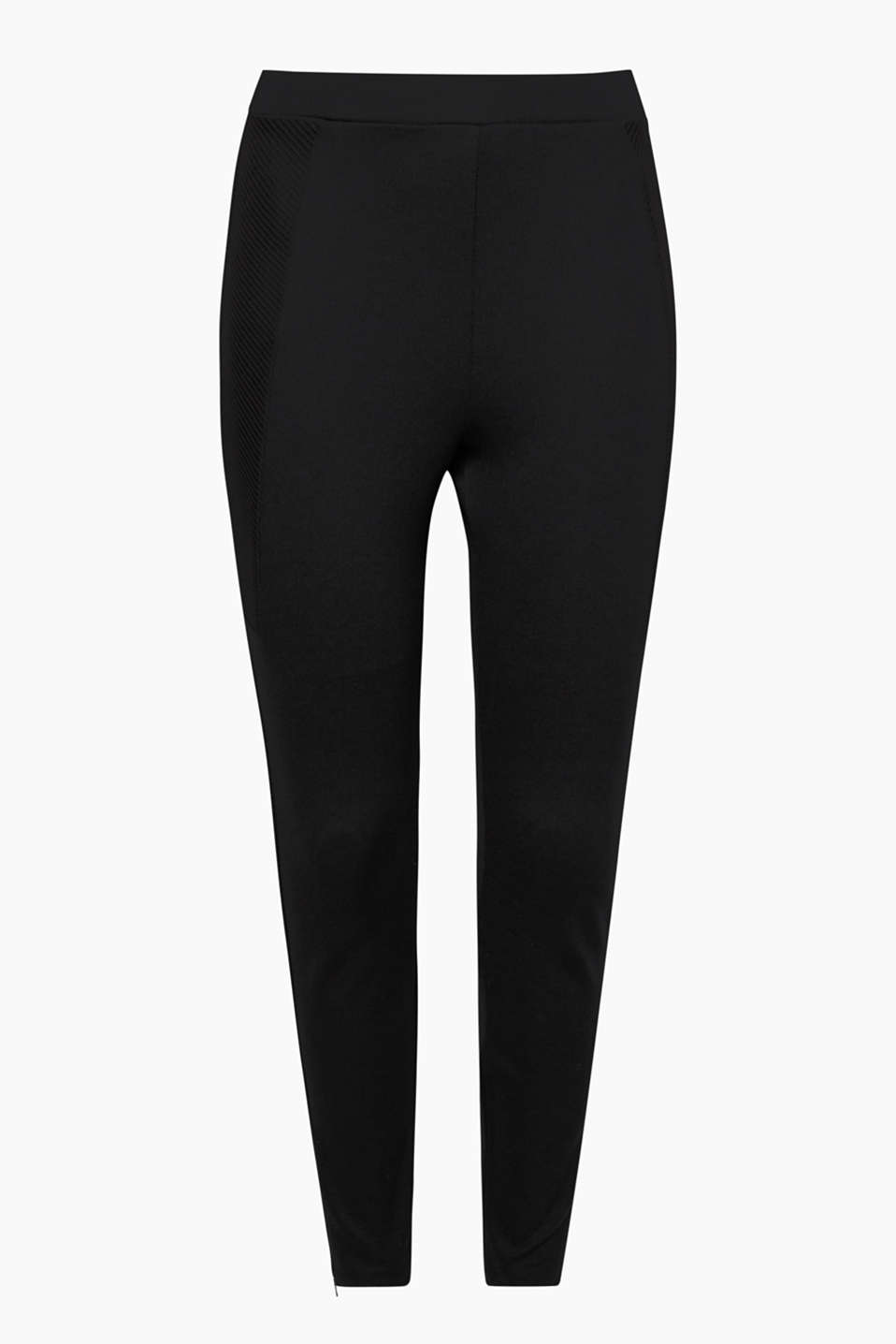 Ultra comfortable and creates a chic look: trousers in compact jersey with stretch