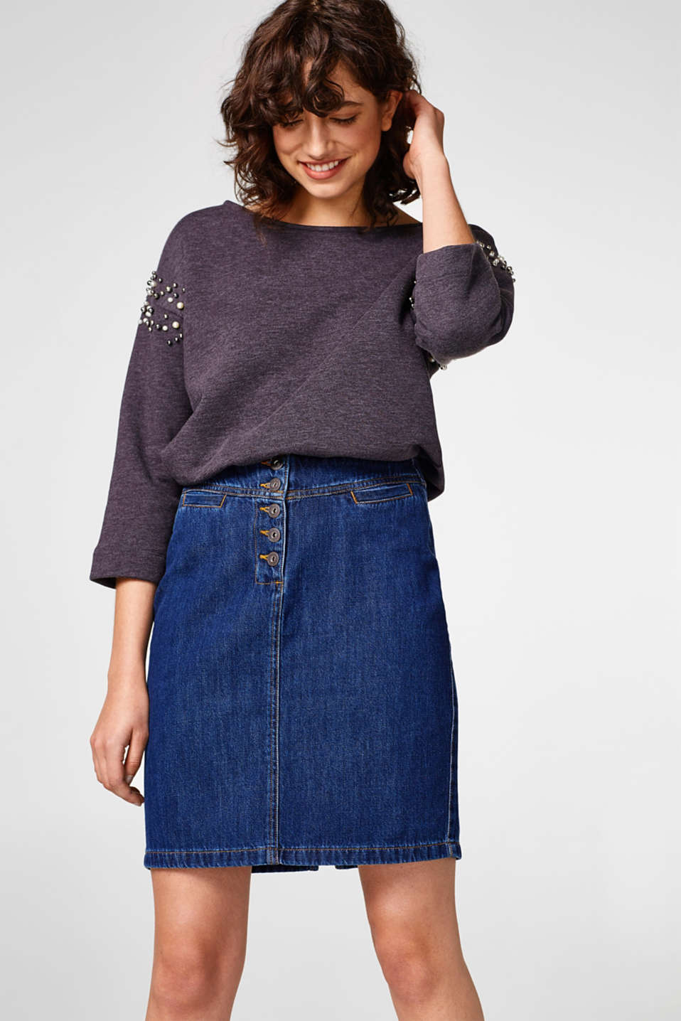 edc - Denim skirt in organic cotton