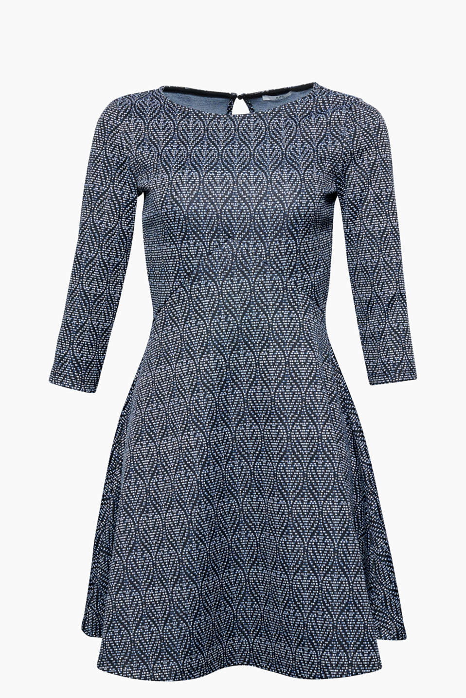 We adore the new, comfortable dress designs! Printed retro-look dress made of thick jersey with a percentage of stretch