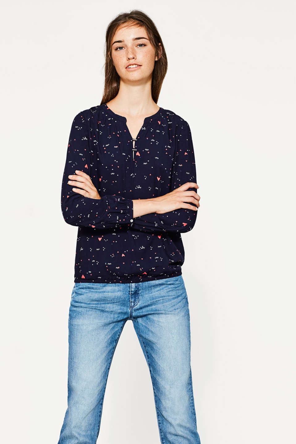 edc - Soepele blouse met print all-over