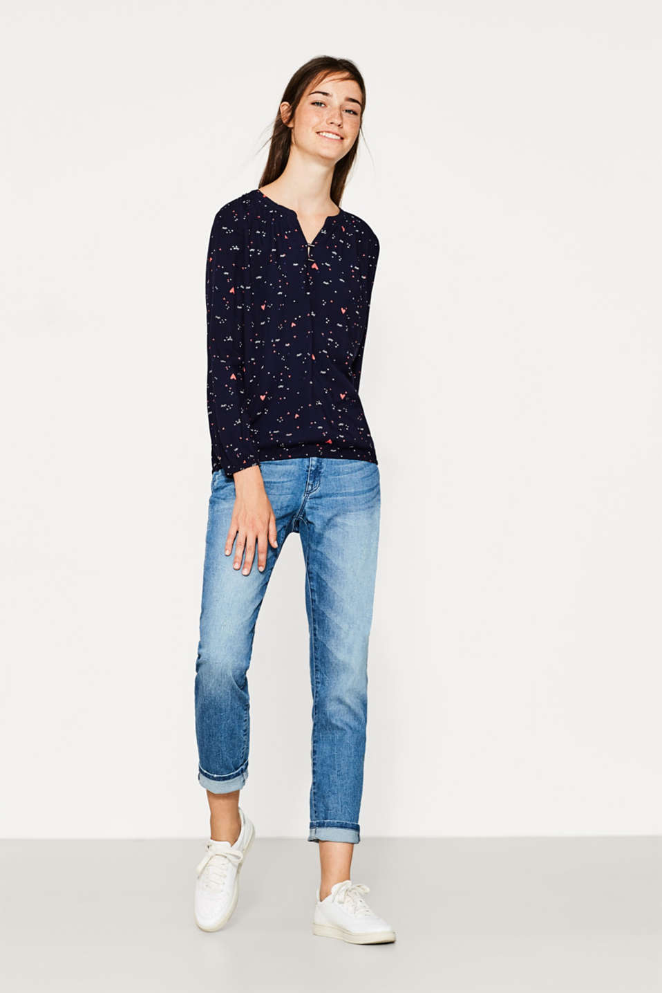 Soepele blouse met print all-over