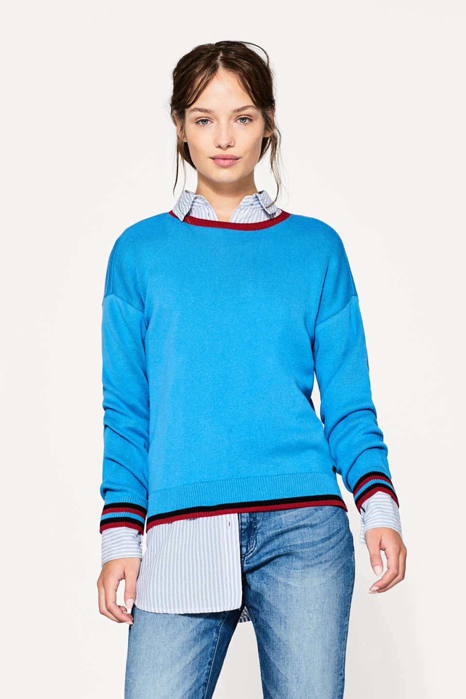 edc - Cropped jumper, 100% cotton