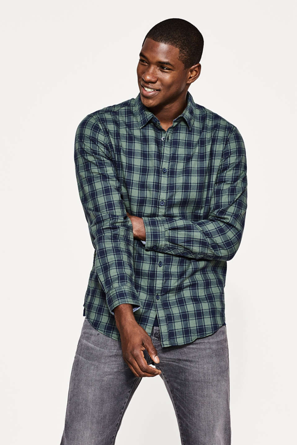 edc - Cotton Glencheck shirt