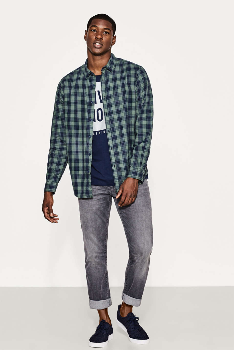 Cotton Glencheck shirt