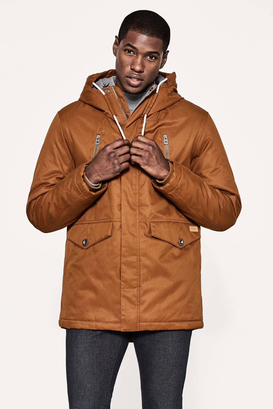 edc - Timeless parka in blended cotton