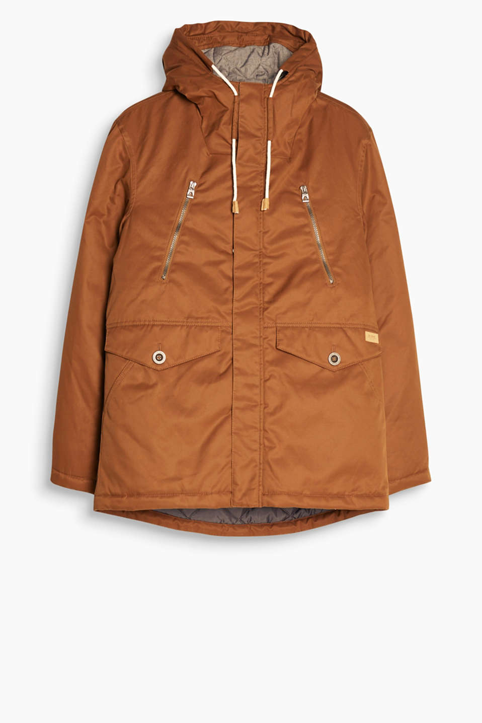 Look cool, stay warm! A timeless parka with a drawstring hood and fine detailing