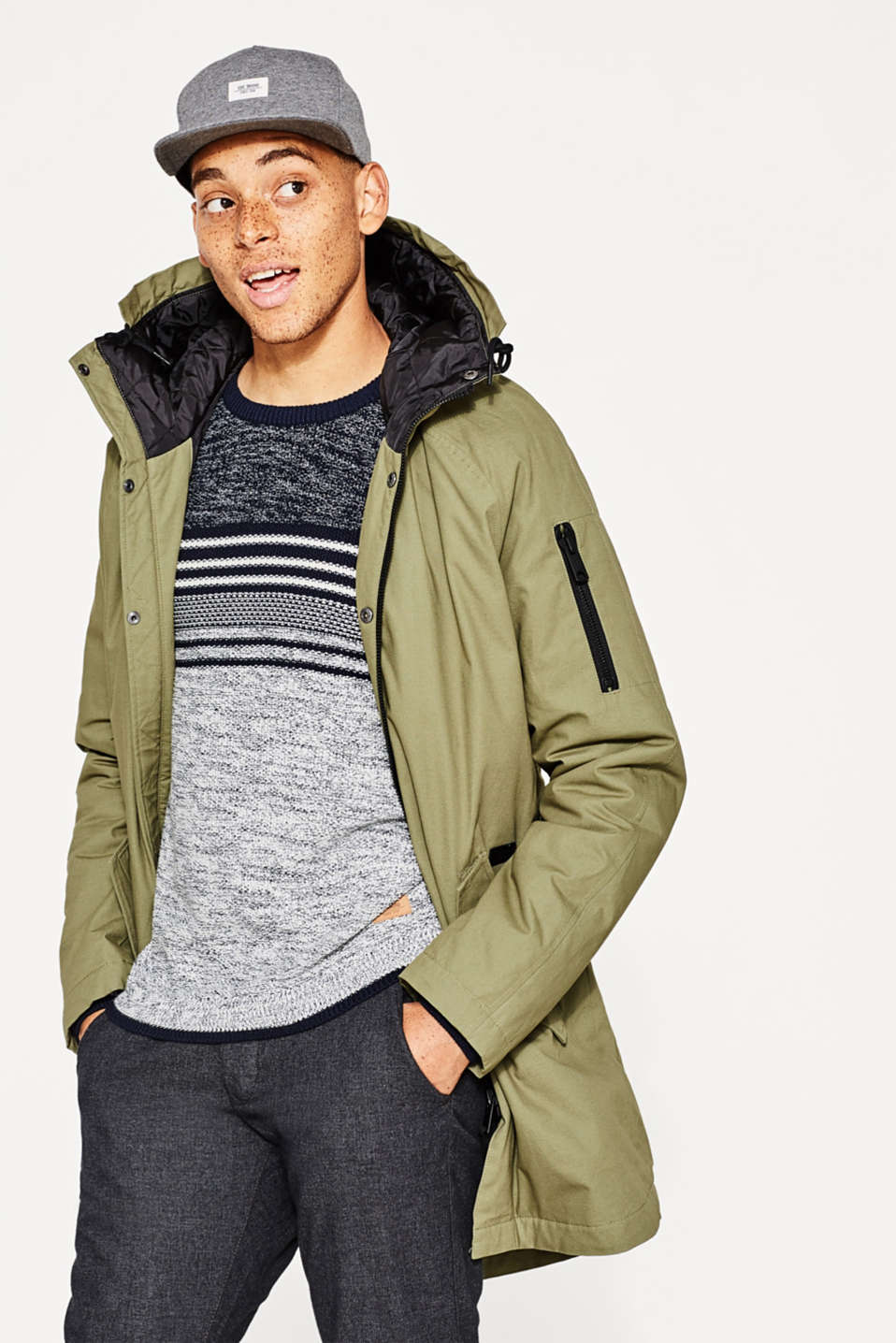 edc - Winter parka with a hood