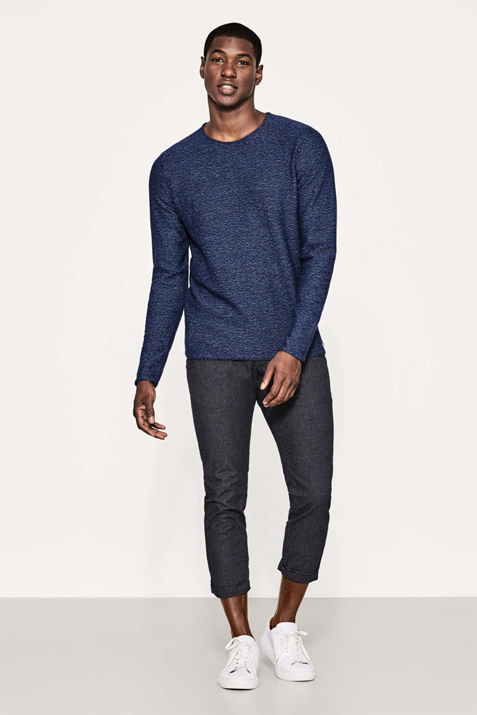 Melange cotton jumper